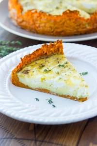 quiche with sweet potato crust